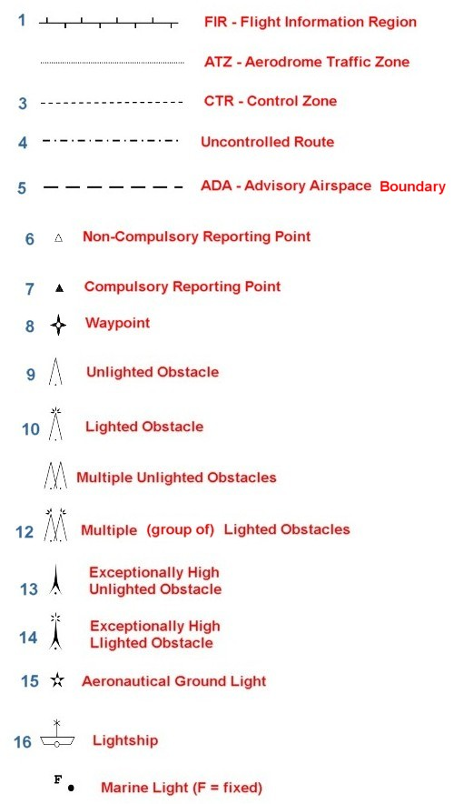 Theairlinepilots View Topic Questions On Chart Symbols